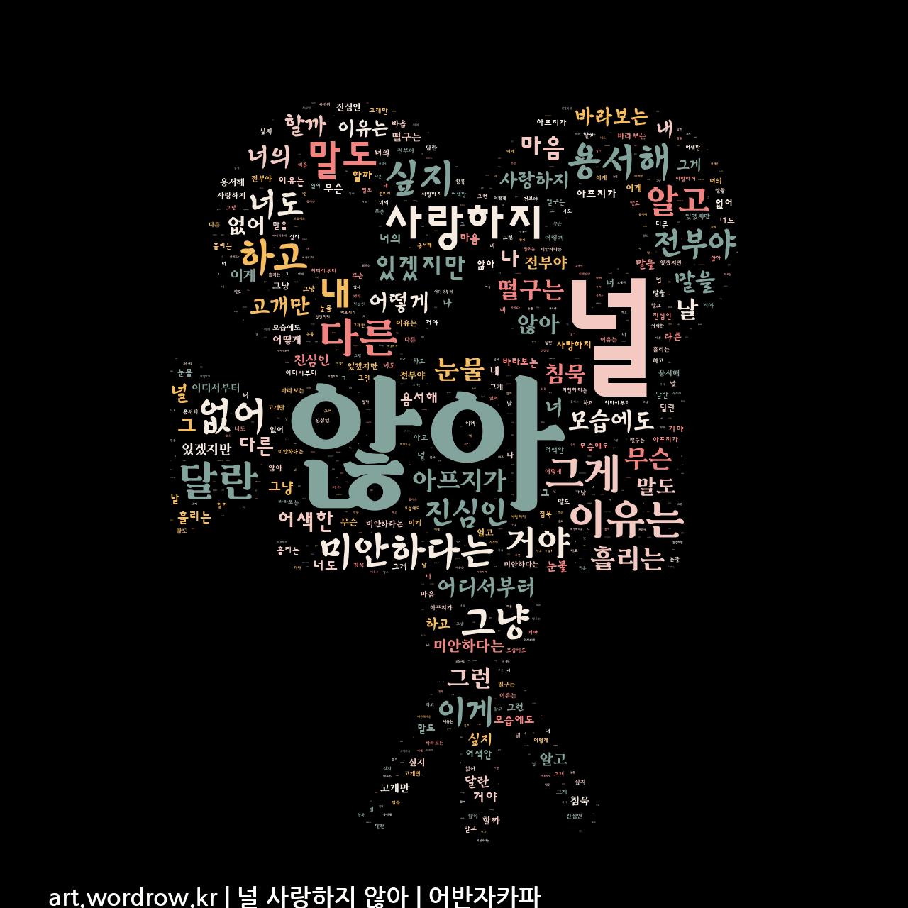 워드 아트: 널 사랑하지 않아 [어반자카파]-15
